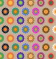Create seamless folk flower pattern vector image