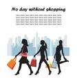 fashion shopping girls vector image