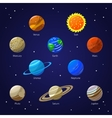 Solar System Planets and Sun vector image