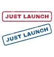Just Launch Rubber Stamps vector image