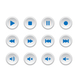 Media player buttons vector image