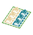 isometric cluster house icon vector image