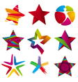 collection of colorful stars signs vector image