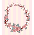 roses frame round vector image