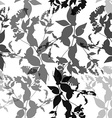Black flowers on white background Seamless pattern vector image vector image