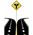 highway road sign vector image vector image
