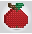 Apple in Pixel Style vector image
