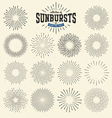 Collection of sunbursts vector image vector image
