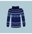 Winter Warm Sweater Handmade Svitshot Jumper vector image