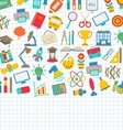 School Wallpaper with Place for Your Text vector image vector image