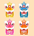 Chinese lion dance festival vector image