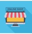 Icon Online Shop vector image