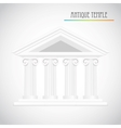 ancient columns vector image