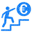 euro business steps icon grunge watermark vector image