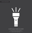 flashlight premium icon white on dark background vector image