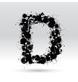 Letter D formed by inkblots vector image
