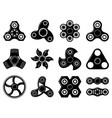 monochrome of spinner toys at vector image