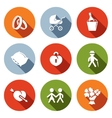 Peoples lives flat icons set vector image