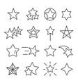 stars line icon set vector image