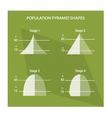 The Four Stage of Population Pyramids Charts vector image