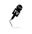 tv microphone in black vector image