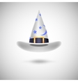 White witch hat for Halloween vector image