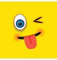 winking tongue out square emoji vector image vector image