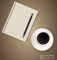 Paper with coffee cup ready for your text vector image vector image