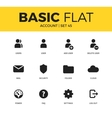 Basic set of Account icons vector image