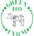 eco cow farm vector image