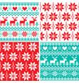 winter pattern set christmas seamless design vector image vector image