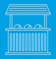 street food kiosk icon outline style vector image