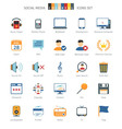 Network Colorful Icons vector image
