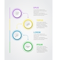 Abstract infographics number options template vector image