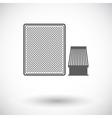 Automotive filter icon vector image