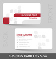 Business card template for your corporate or vector image