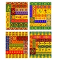 Ethnic abstract pattern in african style vector image