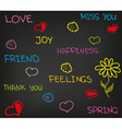 Love happiness friend vector image