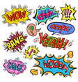 pop art speech bubble set with vector image