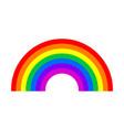 rainbow symbol isolated on white background vector image