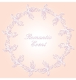 Round lacy ornament with butterflies vector image
