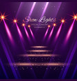 show lights enterance background vector image vector image
