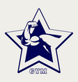ballpoint pen gym poster vector image