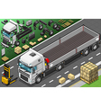 Isometric Pick Up Truck in Front View vector image
