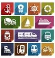 Transport flat icon-01 vector image