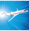 template with airplane vector image vector image