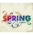 hand drawn spring lettering vector image vector image