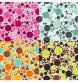 dots seamless patterns vector image