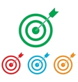 Target with dart vector image