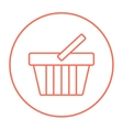 Shopping basket line icon vector image